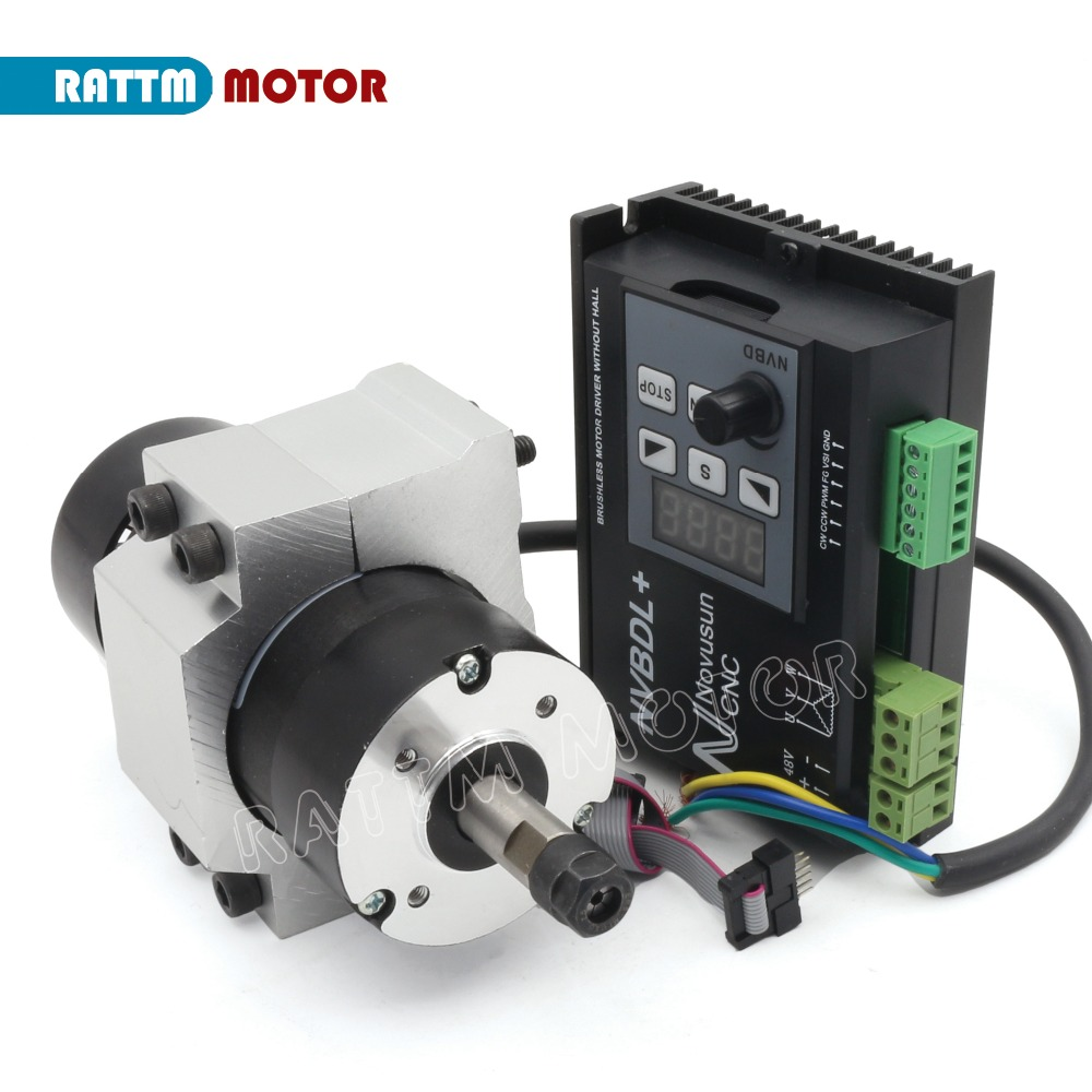 RUS/ EU Delivery! NVBDL+ 400W Brushless Motor Driver Without Hall with CNC Machine BL Engraver Spindle Motor 48VDC ER8RUS/ EU Delivery! NVBDL+ 400W Brushless Motor Driver Without Hall with CNC Machine BL Engraver Spindle Motor 48VDC ER8