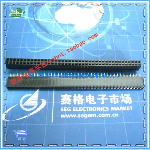 Free shipping .Double Double Cab socket female Pitch 2.54MM 2 * 40P double needle seat