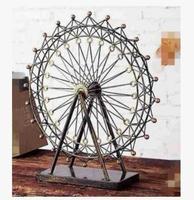 Exclusive market ferrology ferris wheel model can rotate fine workmanship ferris wheel alloy large windmill room world famous