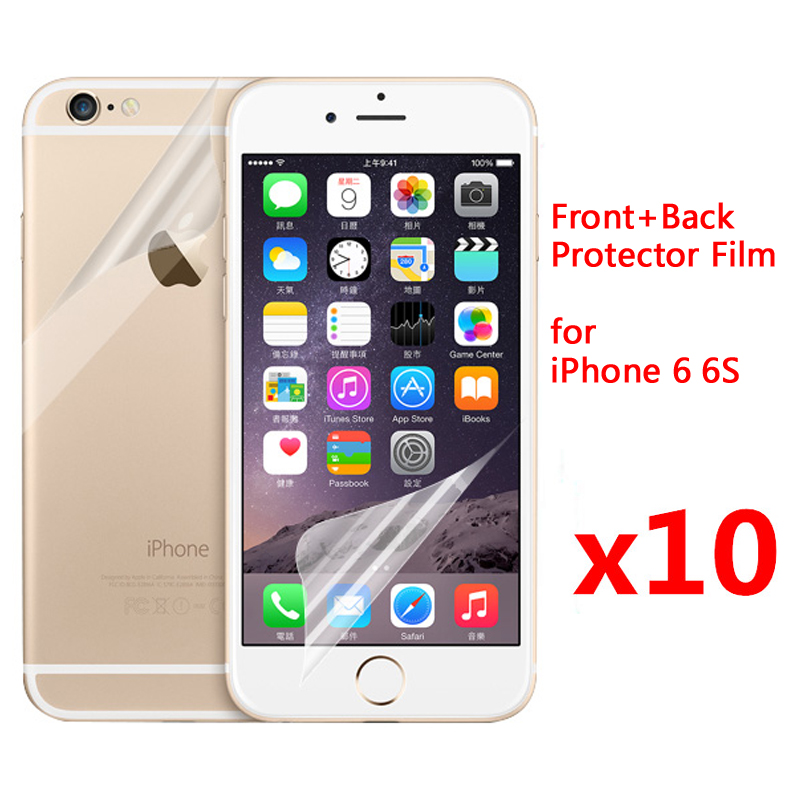 sports shoes 51767 a71c1 US $2.42 30% OFF|5pcs Front + 5pcs Back Screen Protector for iPhone 6 6s  Plus 6Plus 5 5S SE HD Clear Glossy Film Screen Protective Film Guard-in  Phone ...