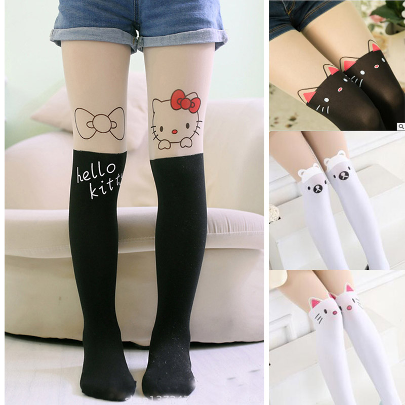 New Design Hot Sales Girls Tights Lovely Hello Kitty Bunny -9191