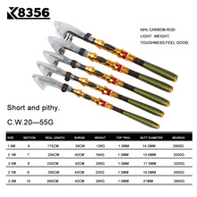2017 New 99% Carbon 1.8M 2.1M 2.4M 2.7M 3.0M Portable Telescopic Fishing Rod Spinning Fish Hand Fishing Tackle Sea Rod Ocean rod