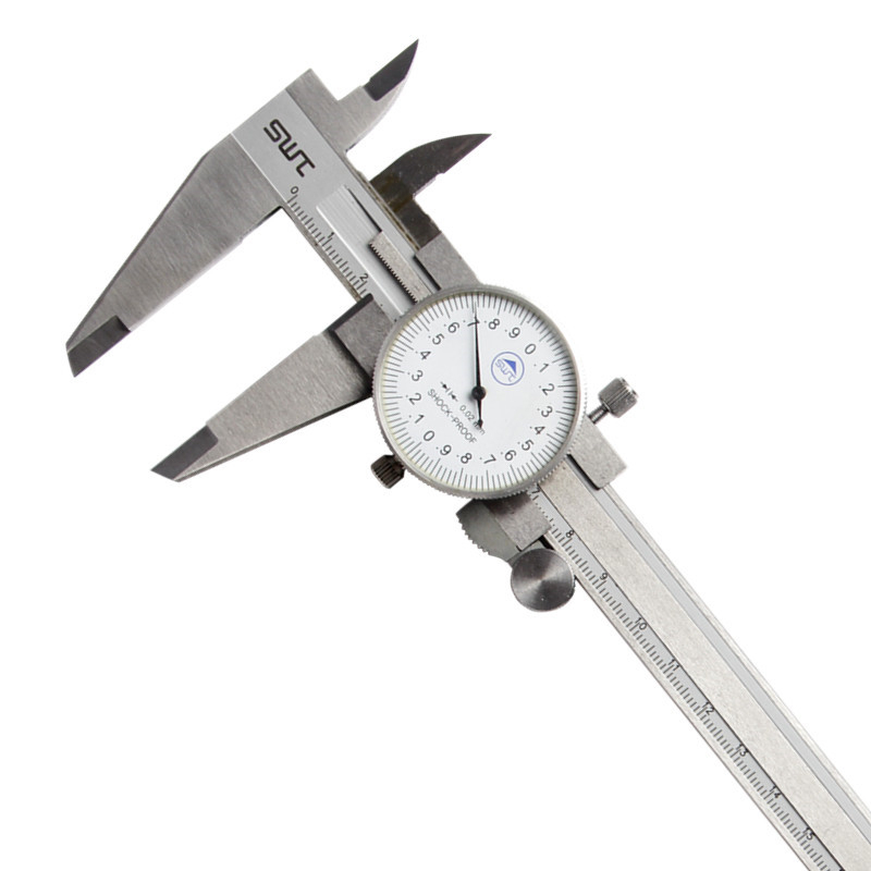 Dial font b Caliper b font 0 200mm 0 02 Metric Stainless Steel Shock proof Measurement