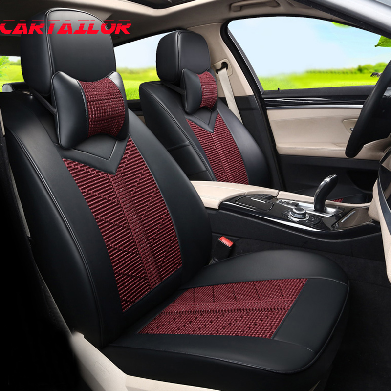 Cartailor Automobiles Seat Covers For Dodge Journey 2009 Accessories Cars Protector Ice Silk Pu