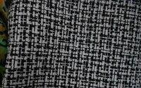 Wholesale Woolen Fabrics Dyed Black And White 150CM Sleeveless Dress Polyester Fabrics Textile Sweater Cloth Fabric