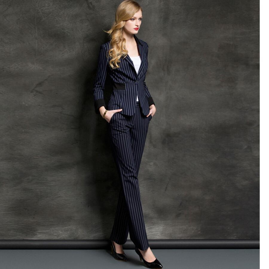 Femmes À Pantalon Mode Style Seule Revers Longues Bande De Manches Costume Costumes Grain D'affaires Veste Design Ms Boucle 11Wr0z6
