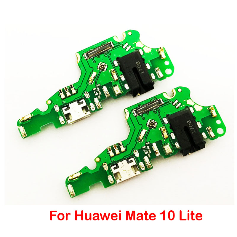 10Pcs/Lot, For Huawei mate 10 lite mate10lite Dock Connector Charger USB Charging Port Flex Cable + Earphone Jack Flex