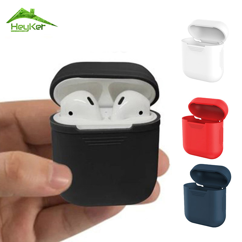 Mini Silicone Shock Proof Protector Sleeve True Wireless Earphone Case For Apple AirPods Skin Cover for Earpods box Accessories цена