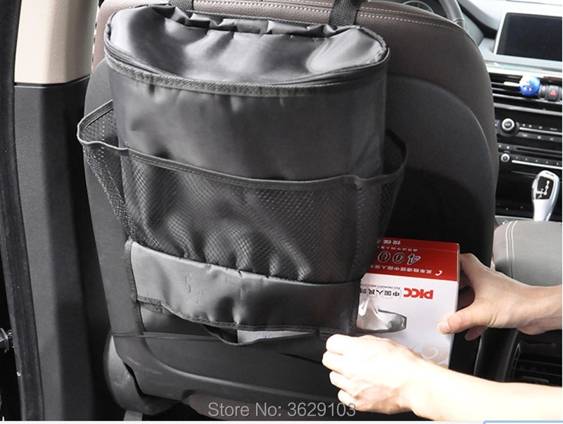 Universal Car Seat Tidying Bags Car Hanging Storage Bag accessories styling for Toyota corolla rav4 Yaris prius hilux avensis