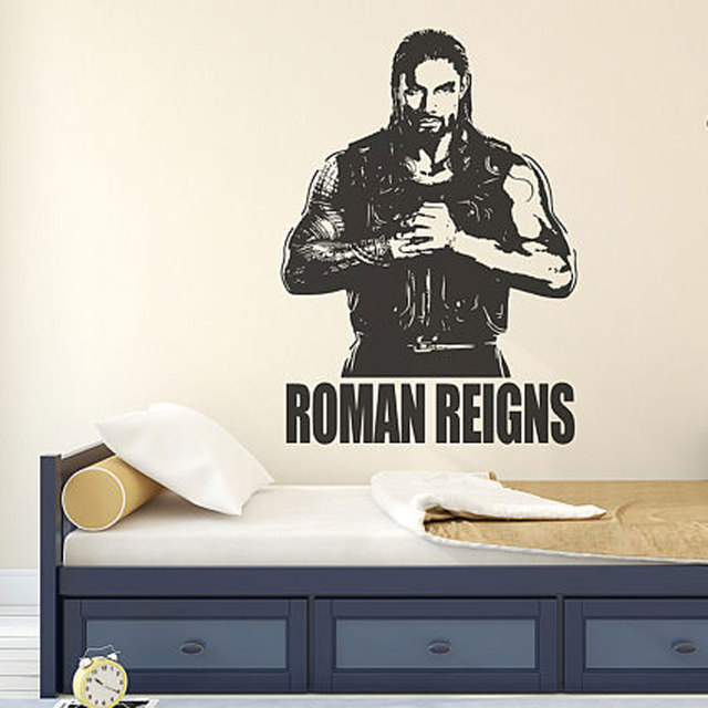 Superior Roman Reigns Wall Decal Sticker Wrestlemania WWE Superstar Wrestlers