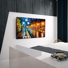 Free Shipping Hand Painted Oil Painting Landscape Paris Street Knife Painting for Living Room
