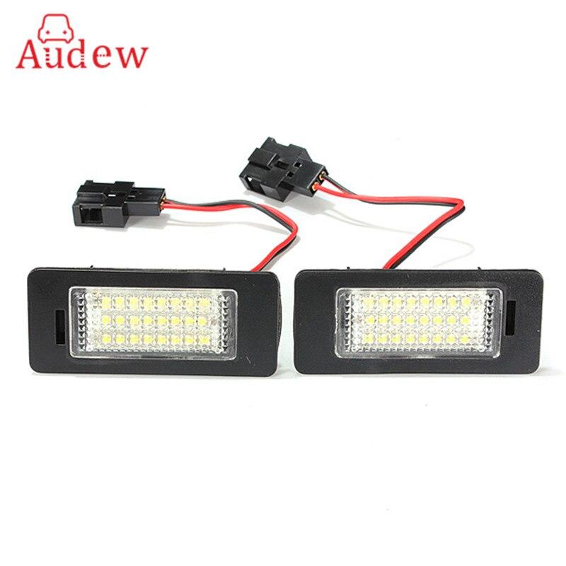 1 пара 12В 3W 24 светодиодов освещение номерного знака лампы освещения номерного знака для Audi ТТ В5 А4 А5 С5 для VW/Пассат Р36 2008