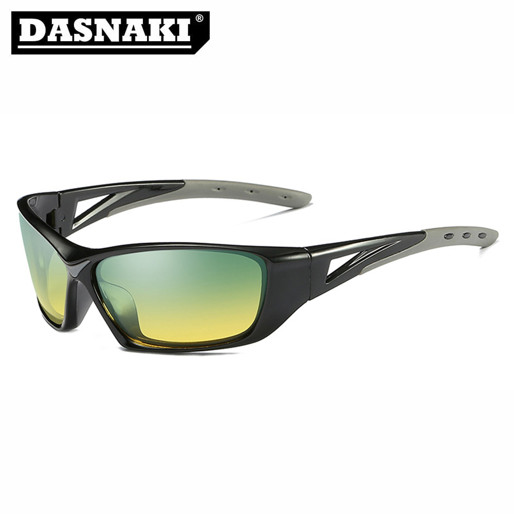 DASNAKI Polarized Clearly Vision fishing glasses out sport sunglasses men Glasses Anti-UV for fishing Cycling Hiking