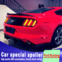 2015 2016 2017 High hardness and quality ABS material rear trunk wing spoiler for Ford Mustang spoiler by primer or any paint