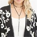 1 pc retro gothic black velvet choker colar para mulheres senhora longo duplo cadeia corda colar de presente da jóia