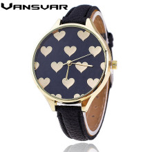 Vansvar Hot Fashion Leather Strap font b Women b font font b Watch b font Casual