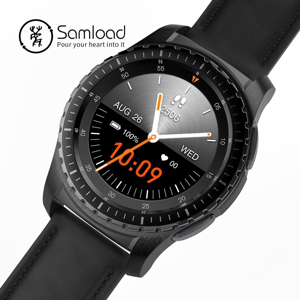 цена Samload KW28 Fashion Bluetooth Smart Watch Support SIM/TF Card Men Wristwatch Fitness Tracker for iPhoneSE 5 6 7 8 Xiaomi Huawei в интернет-магазинах