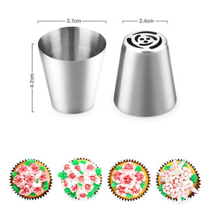 Image 3 - 14pc/Set Russian Tulip Icing Piping Nozzles Stainless Steel Flower Cream Pastry Tips Nozzles Bag Cupcake Cake Decorating Tools