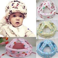 Защита головы ребенка анти-столкновения Защитная шапка учится ходить шлем детские мягкие удобные защитные головные уборы регулируемые