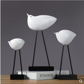 Nordic home decorations, creative seabird crafts ornaments, home study office desktop furnishings, learning gifts