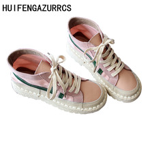 HUIFENGAZURRCS-Original Genuine leather handmade shoes,spliced colors art&antique boots,Spring Ankle Round Martin boots