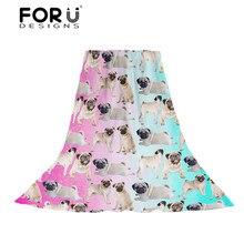 цены FORUDESIGNS Women Scarves Ladies 3D Pug Dog Pattern Slik Scarf Females Mix-color Print Beach Towel for Teen Girls Kawaii Wraps