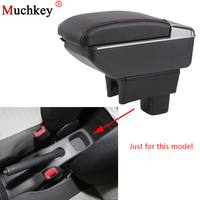 Car Armrest box For SUZUKI Swift 2005 2018 Car Central Console Arm Rest Store content box cup holder ashtray With Rise and Down