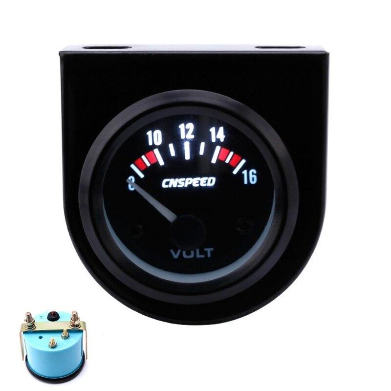 """2 /""""52mm 12 V LED Licht Marine 8 16 V Voltmeter Volt Gauge für Boot"""