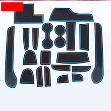 Lsrtw2017 Emulsion Car Door Slot Mat for Mitsubishi Pajero Sport Montero 2008 2009 2010 2011 2012 2013 2014 2015 2016 car seat cover covers for mitsubishi pajero 2 3 4 full sport carisma montero sport outlander 3 xl 2013 2012 2011 2010