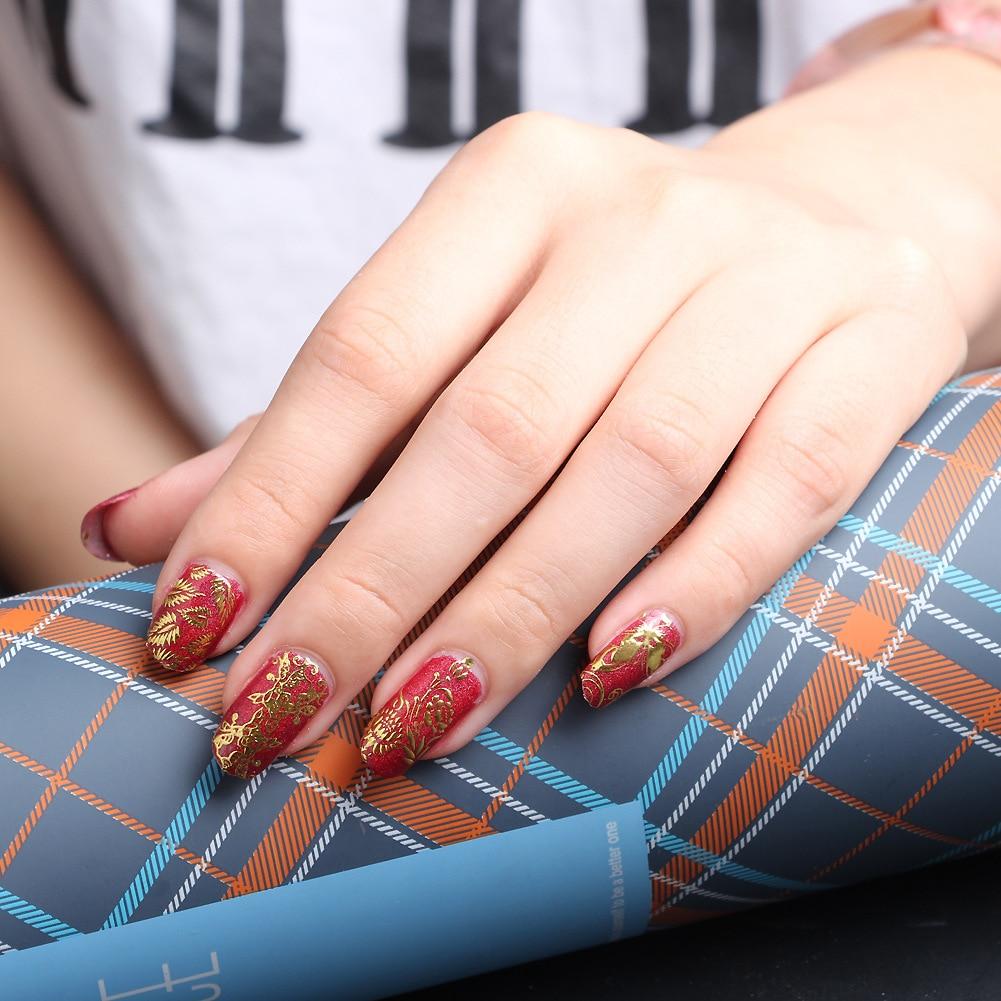 3D Nail art Aufkleber Gold Silber UV Gel Nägel Nail Wraps Aufkleber ...