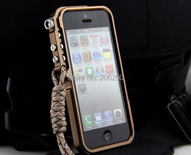 Para iPhone 5S aluminio del CNC del Metal caso de la edición táctica ...