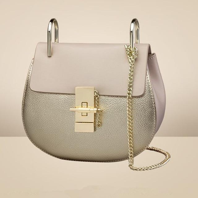 Fashion Genuine Cow leather women messenger bags/ Small Chain Crossbody Women Bags/ lovely Summer  Designer Leather Handbag