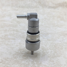 Stainless Steel Barb Liquid Ball Lock Disconnect with Carbonation Cap Beer Home Brew Bar Accessory