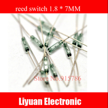 Free Shipping! 10pc reed sensor switch / magnetic switch / Silver plated 1.8 * 7MM normally open(China (Mainland))