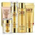 Bioaqua 24 K Ouro Maquiagem Hidratante Creme de clareamento Loção Facial Dia Creme Para o Rosto Cuidados Com A Pele Conjunto de Cosméticos