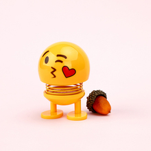 Funny Spring Toys Smile Shaking Head Doll Toy Can Jump Expression Emoji Car Ornaments Cartoon Novelty Decoration