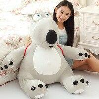 Огромный милые плюшевые несчастливый медведь игрушка Новый Большой Творческий серый медведь игрушка с мешком подарок около 80 см 0444