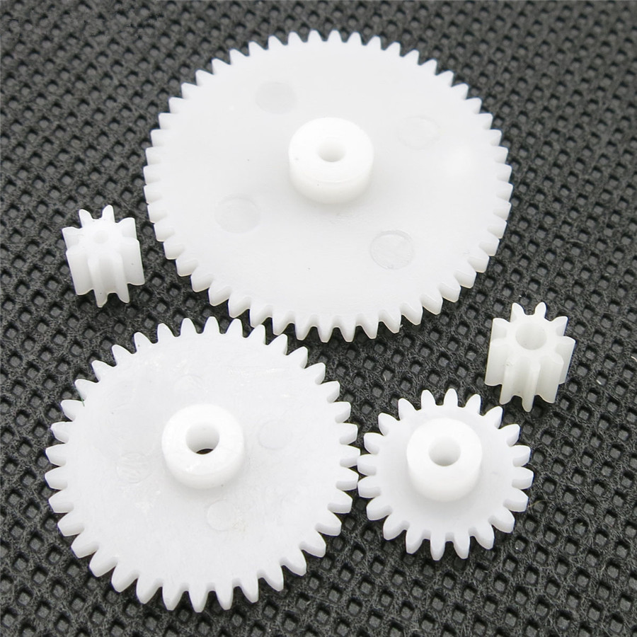 5pcs/pack J360 5 Different Standard Gears 0.5 Module Model Assemble Gear Box Parts White Plastic Gears Free Shipping Russia