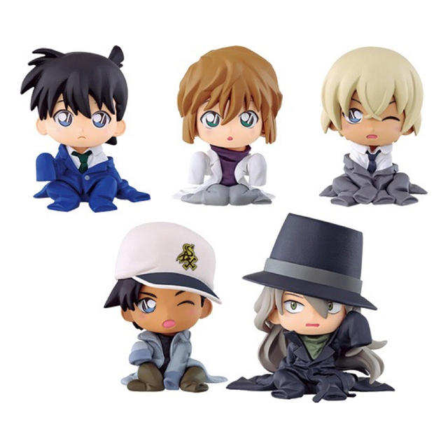 US $48 0 |New Detective Conan Sitting Figure Complete Part 2 Set (5)  Gashapon Collectible Mascot Toys 100% Original-in Action & Toy Figures from  Toys