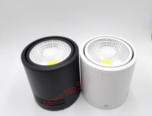 Free Shipping 15W News Super Bright COB Surface Mounted Dimmable led down light 85-265V 8PCS/lot