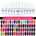 Belen 10pcs UV Gel Nail Lacquer Nail Lacquers Gel Varnish DIY Gel Lacquer UV Curing Top Coating Base Lacquers Foundation