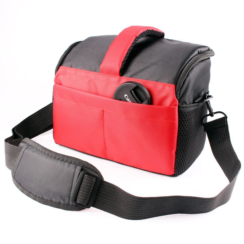 Negro/rojo/cámara DSLR hombro bolsa de lente para Canon EOS 1300D 200D 1200D 1100D 100D 77D 760D 750D 700D 650D 600D para Nikon D3300