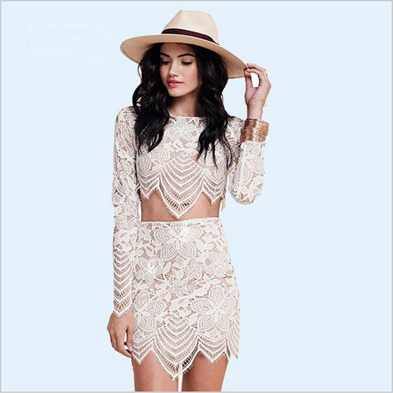Aliexpress.com : Buy women lace hollow crochet dresses summer ...