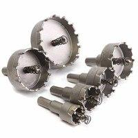 6Pcs Carbide Tip TCT Drill Bit Hole Saw 22 65mm Drill Bit Set Hole Saw Cutter