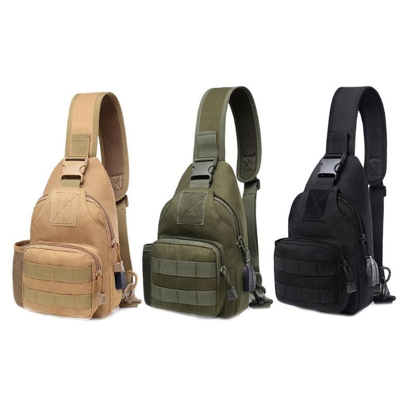 Single Shoulder Chest Bag Outdoor Men Women Chest Pack Universal Portable Belt Shoulder Bag Shoulder Zipper Sling Chest Packages