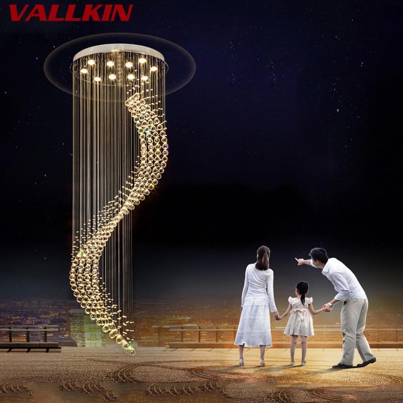 K9 Kristall Treppe LED Kronleuchter moderne künstlerische Spirale - Innenbeleuchtung - Foto 5