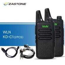 2 шт./лот wln KD-C1 черный рации UHF 400-470 мГц радиолюбителей портативный трансивер kd-c1 CB радио портативный рации