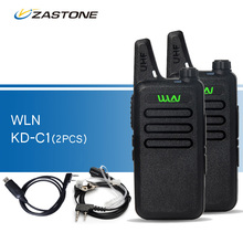 2pcs/lot WLN KD-C1 Black Walkie Talkies UHF 400-470 MHz Ham Radio Handheld Transceiver kd-c1 CB Radio Portable Walkie-talkies