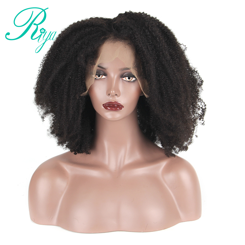 Brazilian Afro Kinky Curly Wig Glueless Full Lace Human Hair Wigs With Baby Hair Pre Plucked