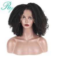 Brazilian Afro Kinky Curly Wig Glueless Full Lace Human Hair Wigs With Baby Hair Pre Plucked Natural Hairline Remy Hair Riya